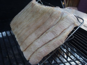 Pork Belly Pellet Cooked